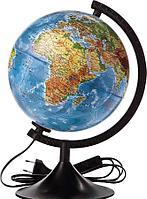 Глобус 25см физ-пол. рельефный Globen c подсветкой