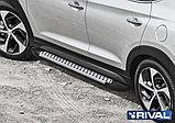 """Порог-площадка """"Bmw-Style"""" D173AL + комплект крепежа, RIVAL, Hyundai Tucson 2015-, фото 3"""
