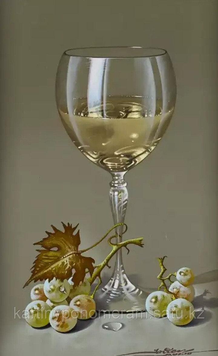 "Картина по номерам ""Бокал белого вина"""