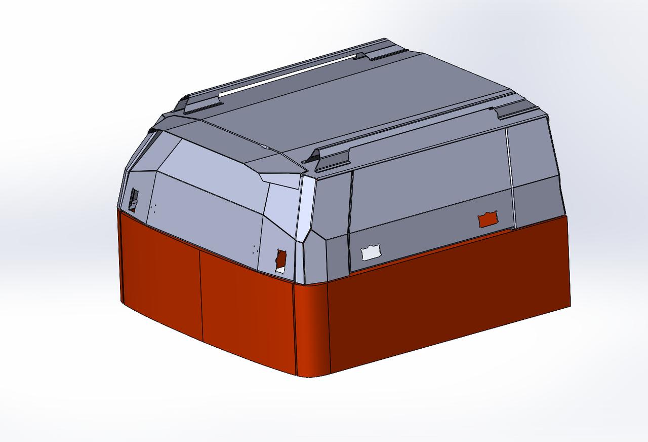 Кунг экспедиционный V го поколения алюминиевый - Isuzu D-Max