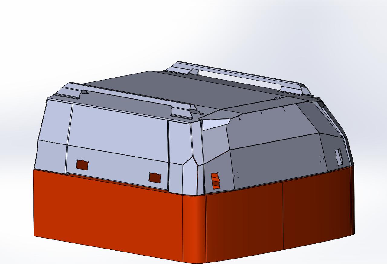 Кунг экспедиционный трёхдверный V поколения алюминиевый - Mitsubishi L200
