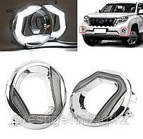 Дневные ходовые огни для Toyota Land Cruiser Prado 150 2014-17