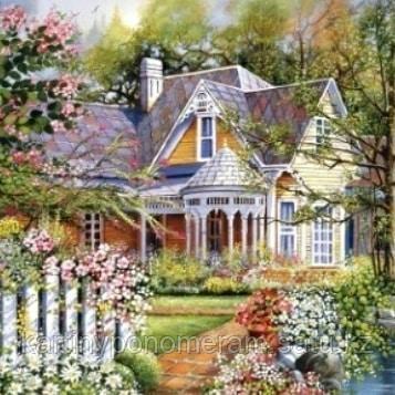 """Картины по номерам """"Дом в цветущем саду"""""""