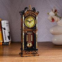 """Часы настольные """"Ажен"""", с маятником и колоннами, 26х8 см, микс"""