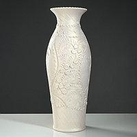 "Ваза напольная ""Эллада"", декор лепкой, белый цвет, 64 см, микс, фото 1"