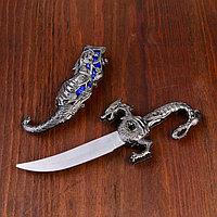 Сувенирный нож, 24,5 см резные ножны, дракон на рукояти