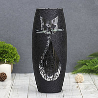 """Ваза """"Чёрная кошка"""", овальная"""