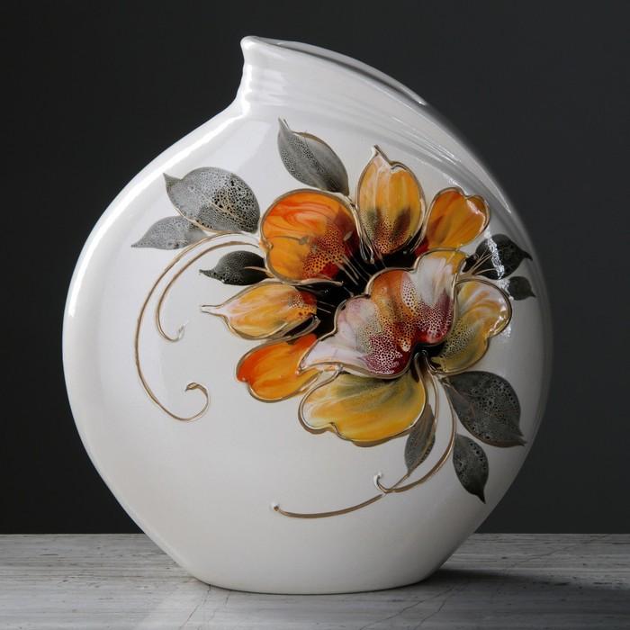 "Ваза ""Бали"" цветы, 30 см, микс"