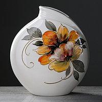 "Ваза ""Бали"" цветы, 30 см, микс, фото 1"