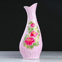 """Ваза напольная """"Верона"""", розовая, цветы, 63 см, микс, фото 1"""