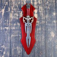 Сувенирный меч на планшете, раздвоенное лезвие, 45 см