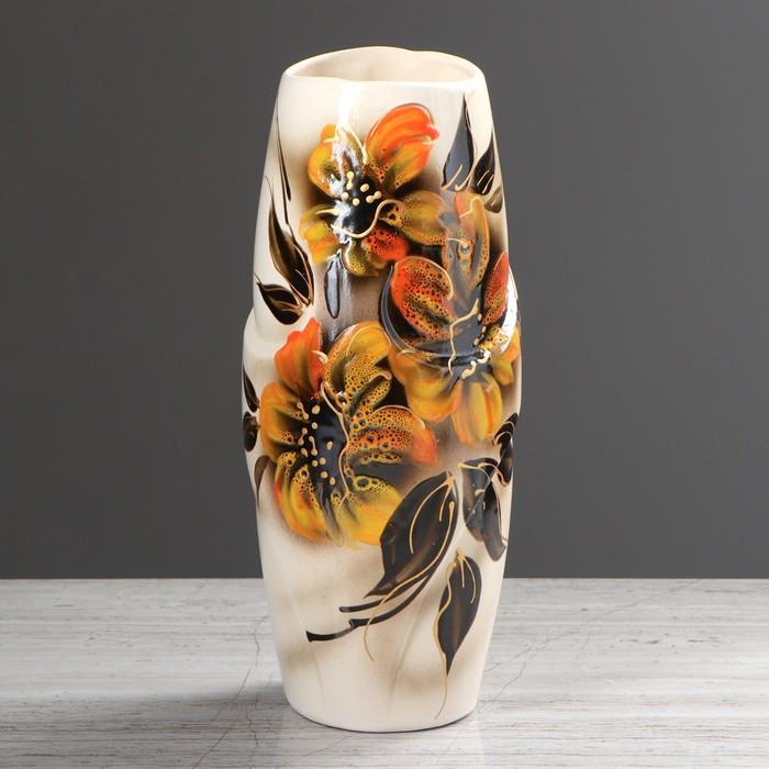 """Ваза настольная """"Феникс"""", цветы, 31 см, микс"""