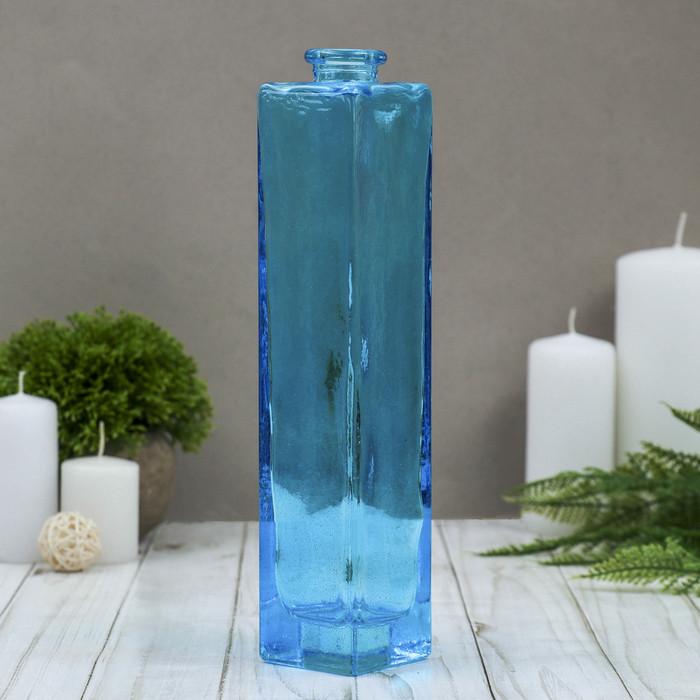 "Ваза ""Нарцисс"" голубая, прозрачная, 0,45 л"