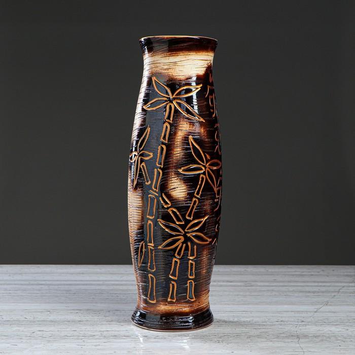 "Ваза напольная ""Ромина"", бамбук, 40 см, микс"
