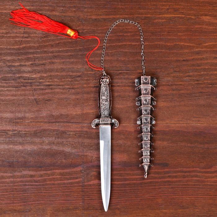 Кортик пагода медь, металл, пластик, 24 см