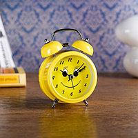 """Будильник """"Смайлик"""", d=8 см, желтый микс, фото 1"""