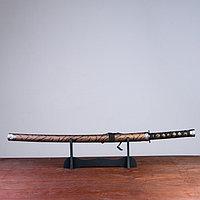 Сувенирное оружие «Катана на подставке», коричневые ножны под гепарда, 89см, фото 1