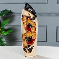 """Ваза напольная """"Мали"""", цветы, коричневая 45 см, фото 1"""