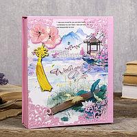 """Фотоальбом на 80 фото 10х15 см """"Сакура и бабочки"""" в коробке МИКС 23,5х19,5х5 см, фото 1"""