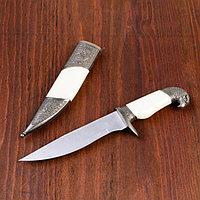 Сувенирный нож, рукоять белая с головой орла, 28см, фото 1