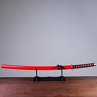 Сувенирное оружие «Катана на подставке», красные ножны, 103см, фото 1