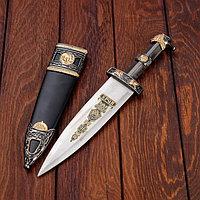 Сувенирный кинжал, эмблема на лезвии, чехол чёрный, 35 см