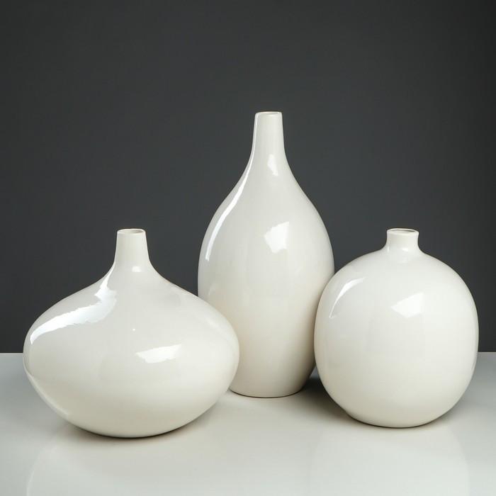 """Набор ваз """"Агия"""", цвет белый, 24/33/41 см"""
