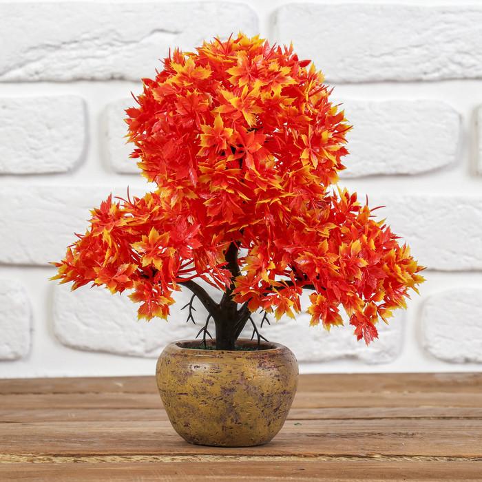 """Бонсай """"Дерево три шара"""" острые листики 8*25 см, микс"""
