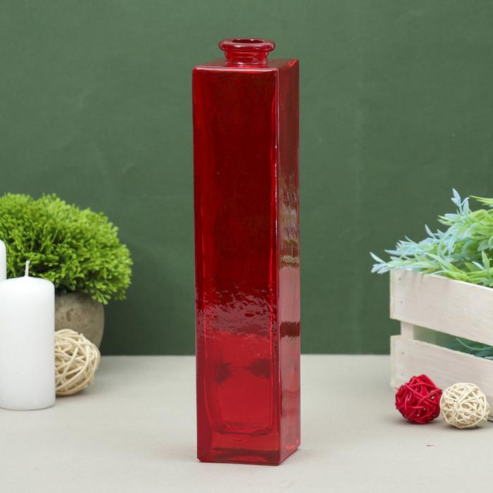 """Ваза """"Нарцисс"""" красная, прозрачная, 0,45 л"""