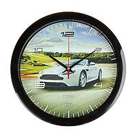 """Часы настенные, серия: Транспорт, """"Спортивное авто"""", 28х28 см"""