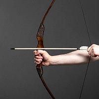 """Сувенирное деревянное оружие """"Лук фигурный"""", взрослый, коричневый, массив ясеня, 120 см, фото 1"""