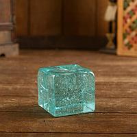 """Декор интерьерный """"Кубик"""" стекло 7х7х7 см"""
