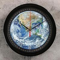 """Часы настенные, серия: Природа, """"Планета Земля"""", 28х28 см"""