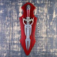 Сувенирный меч на планшете, клинок 27 см, рукоять с головой старца, фото 1