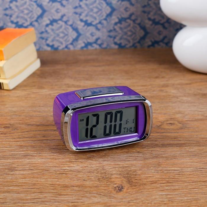 "Часы-будильник электронные ""Санкудо"", 10х6 см, микс, 2аа"
