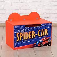 Контейнер-сундук с крышкой Spider car, цвет красный