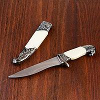 Сув. изделие нож, ножны серебро, слоновая кость, клинок 20 см