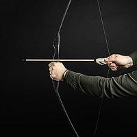 """Сувенирное деревянное оружие """"Лук спортивный"""", подростковый, чёрный, массив ясеня, 120 см, фото 1"""