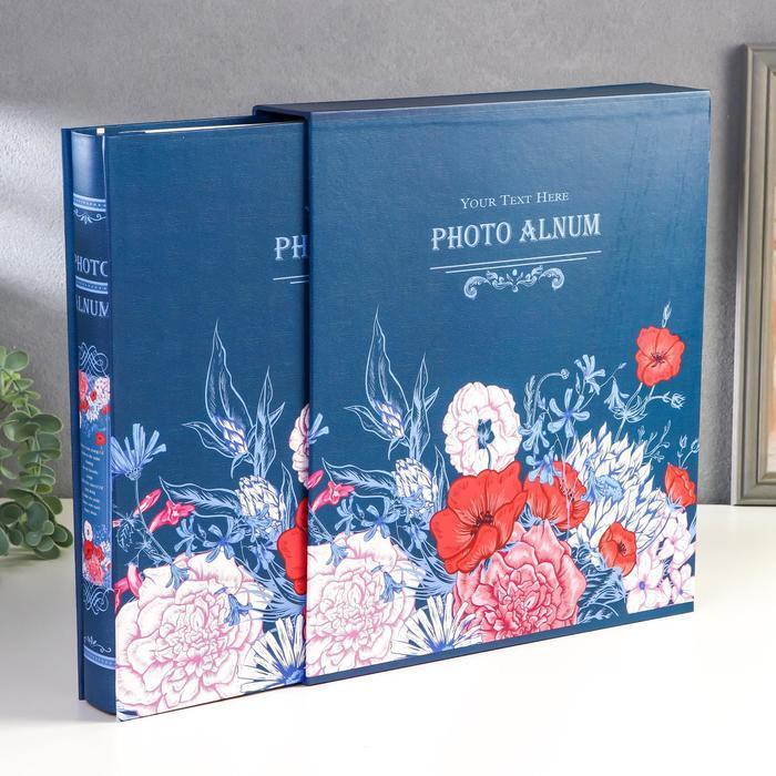 "Фотоальбом на 500 фото 10х15 см ""Нарисованные цветы"" в коробке МИКС 33,5х30х6 см"