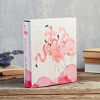 """Фотоальбом на 200 фото 10х15 см """"Фламинго акварелью"""" в коробке 26х21,5х5,5 см, фото 1"""