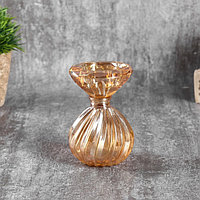 """Подсвечник стекло на 1 свечу """"Зефир"""" МИКС 10х6х6 см, фото 1"""