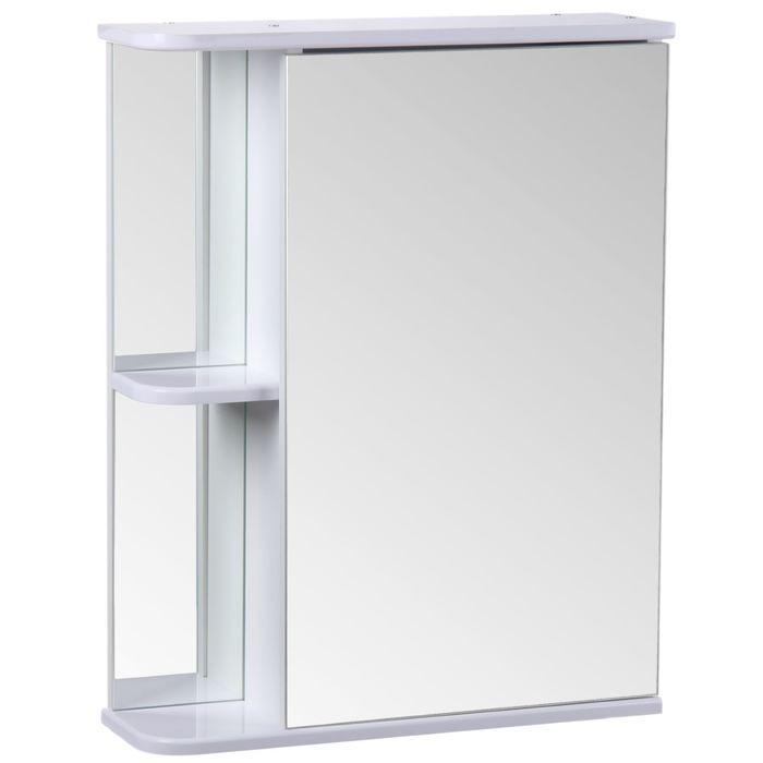 "Зеркало-шкаф ""Тура"", с двумя полками, 55 х 15,4 х 70 см"