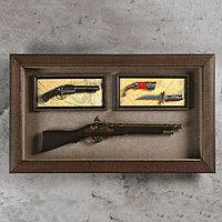Изделие сувенирное в раме: ружье, мушкет, нож 80х48 см, фото 1