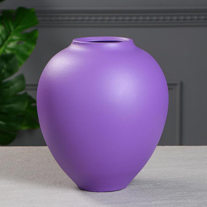 """Ваза настольная""""Велеса"""" цвет фиолетовый, муар, 27 см"""