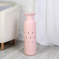"""Ваза напольная керамика """"Вилена"""" 17*60 см, розовый, фото 1"""
