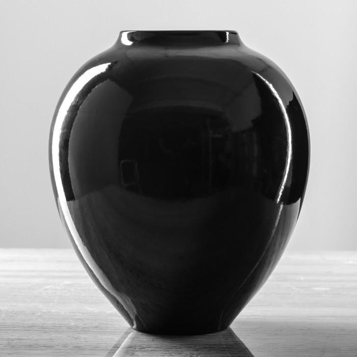 """Ваза """"Велеса"""", чёрный цвет, 25 см"""