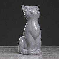 """Ваза настольная """"Кошка"""", серая , 25 см, фото 1"""