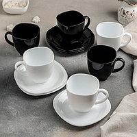 Сервиз чайный Carine, 12 предметов: 6 чашек 220 мл, 6 блюдец 13,4 см