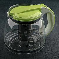 Чайник заварочный с металлическим ситом «Наслаждение», 2 л, цвет МИКС, фото 1