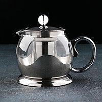 Чайник заварочный «Роскошь», 800 мл, 17×12×13,5 см, цвет металлик, фото 1